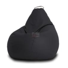 Кресло мешок Кожа Черное
