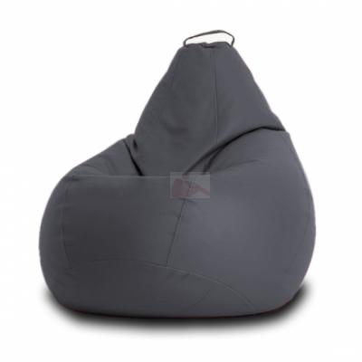Кресло мешок Кожа Серое