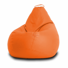Кресло мешок Кожа Оранж