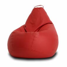 Кресло мешок Кожа Красное