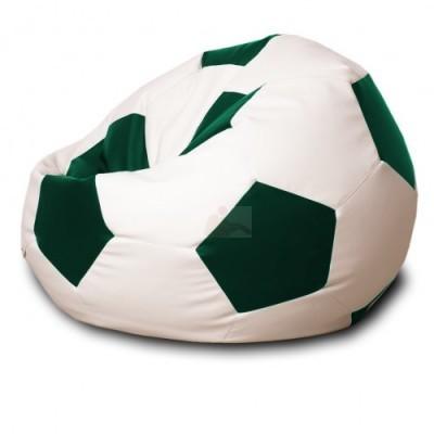 Кресло мяч Кожа Бело-зеленое