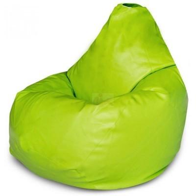 Кресло мешок Кожа Зеленое