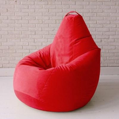 Кресло мешок Велюр Красное