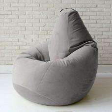 Кресло мешок Велюр Серое
