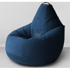 Кресло мешок Велюр Синее