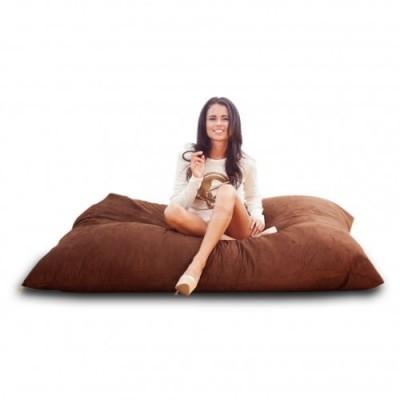 Кресло мешок Подушка Шоколад (Велюр)