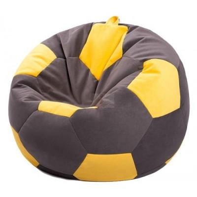 Кресло мяч Велюр Коричнево-желтое