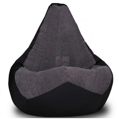Кресло мешок Велюр Блэк (Оксфорд + Жаккард)