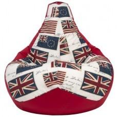 Кресло мешок Красный Флаг (Оксфорд + Жаккард)