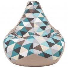 Кресло мешок Ромб Грей (Оксфорд + Жаккард)