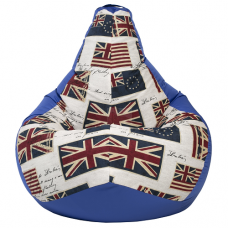 Кресло мешок Синий Флаг (Оксфорд + Жаккард)