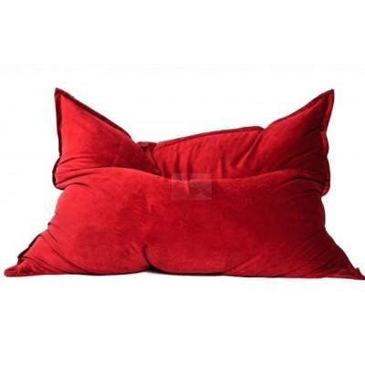 Кресло мешок Подушка Красная (Велюр)